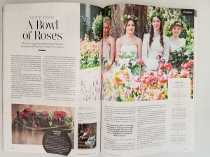 Academy of Floral art in Devon Life Sept 2016