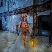 Ghost courtyard lantern